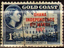 Ghana 1957 Mi 6 Independence, stamps from Goldcoast