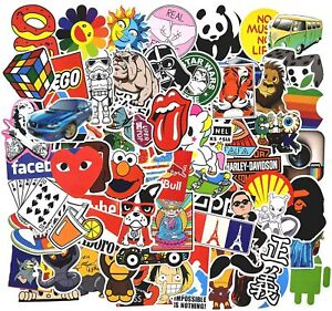Stickers Pack Cool, 100 Pcs Vinyl Waterproof Stickers, for Laptop, Luggage, Car,