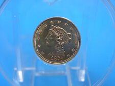 Beautiful 1879-P $2.50 Liberty Head Gold Quarter Eagle ANACS MS60