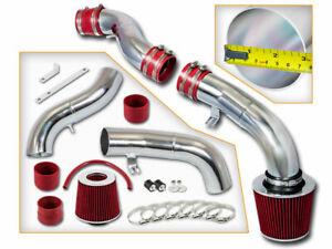 Cold Air Intake Kit + RED Filter For 03-07 Hyundai Tiburon GT/SE 2.7L V6