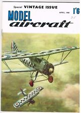MODEL AIRCRAFT  Magazine April 1960 Fighters of WWI Sopwith Pup & DH 2