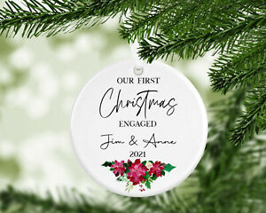 Personalised Christmas Bauble Decoration 1st Christmas Married, Engaged,Together