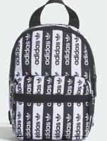 Adidas Originals Black White Logo Print Mini Backpack