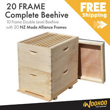 Beehive - 2 Levels - With NZ made Frames - Full Depth Bee Box 10F Size