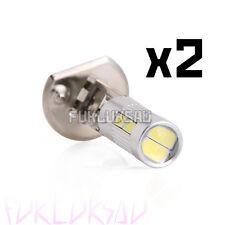 2 AMPOULES H1 5630 10LED SMD BLANC 6000K HALOGENE XENON LAMPE PHARE FEUX TUNING