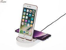 Qi Wireless Induktive Schnell Ladestation Ladegerät + Dockingstation iPhone 8 8+