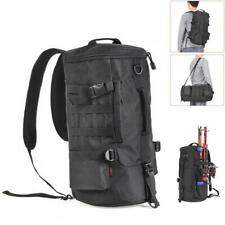 Fishing Tackle Backpack Large Waterproof Storage Bag Outdoors Cylinder Backpack