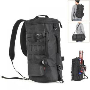Fishing Tackle Backpack Large Waterproof Storage Bag Outdoors Cylinder Backpack