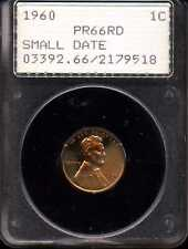 1960 1C Small Date Proof Lincoln Memorial Cent PR66RD PCGS 2179518