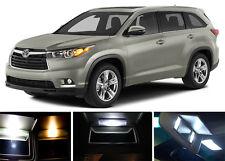Xenon White Vanity / Sun visor  LED light Bulbs for Toyota Highlander (4 pieces)