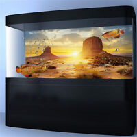 Desert View Aquarium Background Poster Fish Tank Reptile Wall Decorations