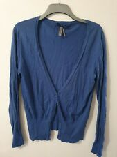 Next Long Sleeve Blue Buttoned Cardigan Size 14