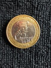 VERY RARE COLLECTABLE KITCHENER FIRST WORLD WAR £2 COIN 2014 GOOD CONDITION