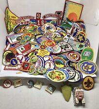 More details for job lot of 200+ vintage boy scout cloth patch badges award card banners us & uk