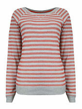 Striped Cotton Blend Hip Length Jumpers & Cardigans Plus Size for Women