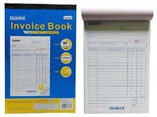 INVOICE Receipt Record BOOK 2-Part 50-Set Numbered Original Duplicate Carbonless