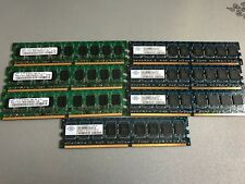 (Lot of 7) Mixed Brand 1GB PC2-5300E 667MHz DDR2 ECC Server RAM Samsung