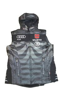 Bogner Men's Dsv Team Germany Ski Vest With Fleece Inner Black Grey Size 52 L