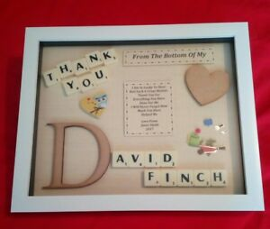 THANK YOU GIFT Personalised Picture Frame MALE Mentor Lecturer Carer Doctor Dad
