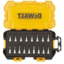 DEWALT 3/8 in Drive Bit Socket Set Case (17-Piece) Metric SAE 6-Point Tool Kit