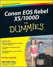 Canon EOS Rebel XS / 1000D For Dummies, King, Julie Adair, Good Condition, Book