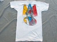 TRUE VINTAGE 80s t shirt Screen Stars Small Deadstock 1984 Robot Rock Ironman