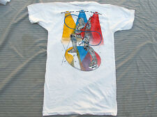 TRUE VINTAGE 80s t shirt Screen Stars Small Deadstock 1984 Robot Rock Ironman