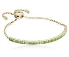 Michael Kors MKJ5401 'Core' Gold-Tone Mint & Cubic Zirconia Slider Bracelet $115