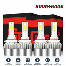 4 LED Headlight Bulb For Chevy Pickup Truck 1500 2500 3500 1990-2000 Low & High