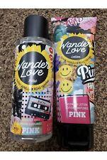 Set of 2 Victoria Secrets Lotion, Body Mist Pink Wander Love