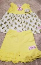 Boutique Ruffle Girl Outfit - size 2 - Banana Top with Shorts