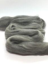 8 Ounces (1/2 lb) GRAY Merino Wool Top Roving Fiber Spin, Felt Crafts LUXURIOUS