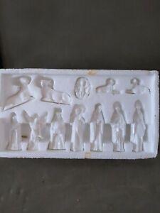 Nativity Figures- Vintage Set of 12 x Glazed Ceramic
