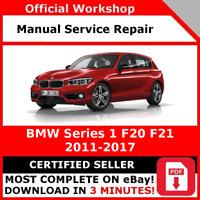 # FACTORY WORKSHOP SERVICE REPAIR MANUAL BMW SERIES 1 F20 F21 2011 - 2017