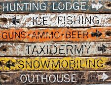 "TIN SIGN ""Wood Town Direction "" Location  Art Deco Garage Wall Decor"