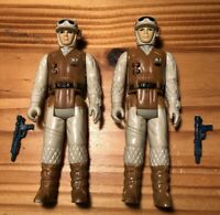 Star Wars VINTAGE Rebel Soldiers (Hoth) COMPLETE x2 PAINTED BOOT VARIANT