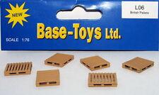 B-T Models L06 - 6 x British Pallets - 1/76 Scale = 00 Gauge - 1st Class Post