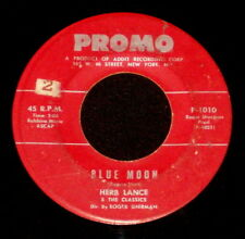 """HERB LANCE THE CLASSICS """"BLUE MOON/Little Boy Lost"""" PROMO 1010 (1961) 45rpm SNGL"""