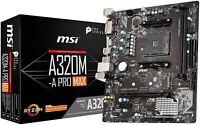 MSI Motherboard AMD AM4 A320M-A PRO D4 M-ATX Ryzen Bios Lan HDMI DVI AMD DDR4 PC