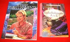 Lot of 2~Embellishments A To Z & Sew Easy Embellishments~Zieman~Vgc ~Lot#Sb-26