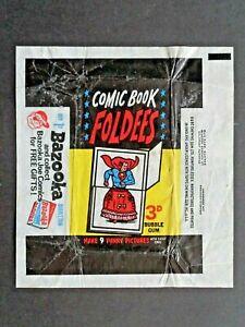1966 A&BC *COMIC BOOK FOLDEES*  WAX WRAPPER (large version)  HTF