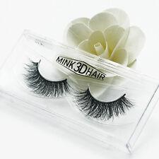 3D Luxurious Black 100% Real Mink Elegant Cross Thick False Eyelashes Eye Lashes