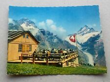 VINTAGE SWISS SMALL COLOUR PHOTOGRAPH WETTERHORN SCHRECKHORN BERG RESTAURANT