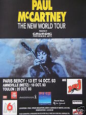 PUBLICITÉ 1993 NRJ AVEC PAUL MC CARTNEY A PARIS BERCY - ADVERTISING