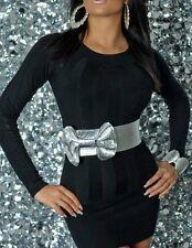 SeXy Miss Damen Strick Long Pulli Pullover Mini Kleid S/M 34/ M/L 36/38 schwarz