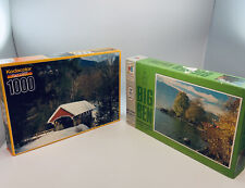 Jigsaw Puzzles Vintage Sealed New 1968 Big Ben Kodacolor Covered Bridge