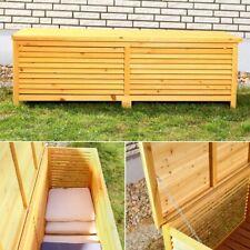 140CM Holz Auflagenbox Kissenbox Gartenbox Gartentruhe Auflagen Truhe Holztruhe