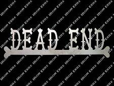 Dead End Bones Metal Sign Hearse Nameplate Wall Art Rat Rod Keep Out Biker
