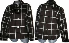 NWT RALPH LAUREN coat jacket brown cream career L $199 plaid windowpane blazer