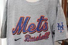 MLB New York Mets Baseball Nike Kids Medium 12/14 Gray T Shirt